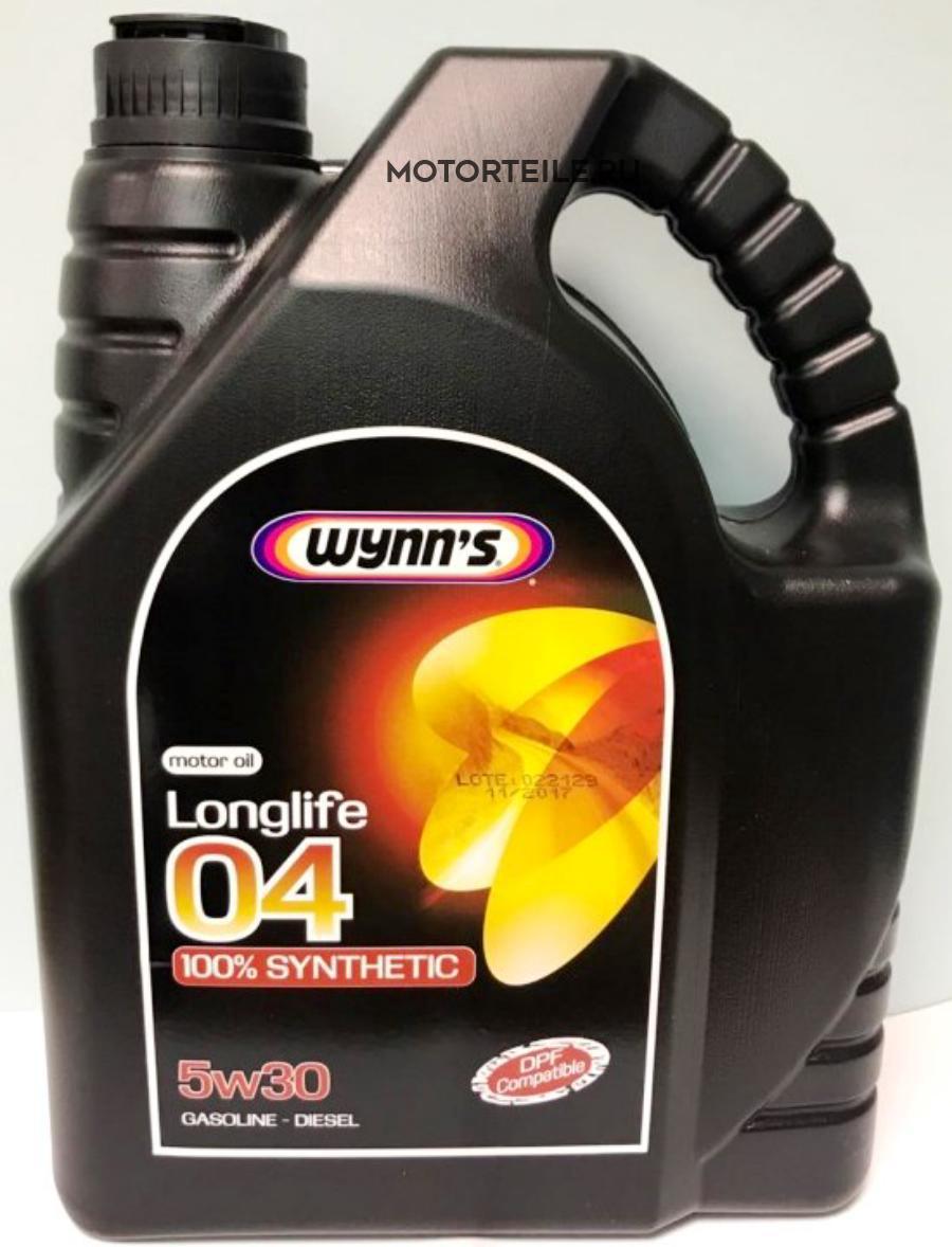 Моторное масло синтетическое WYNNS LONGLIFE 04 5W30, 4л