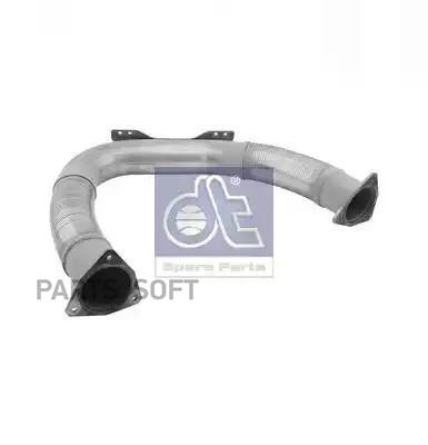 Front exhaust pipe