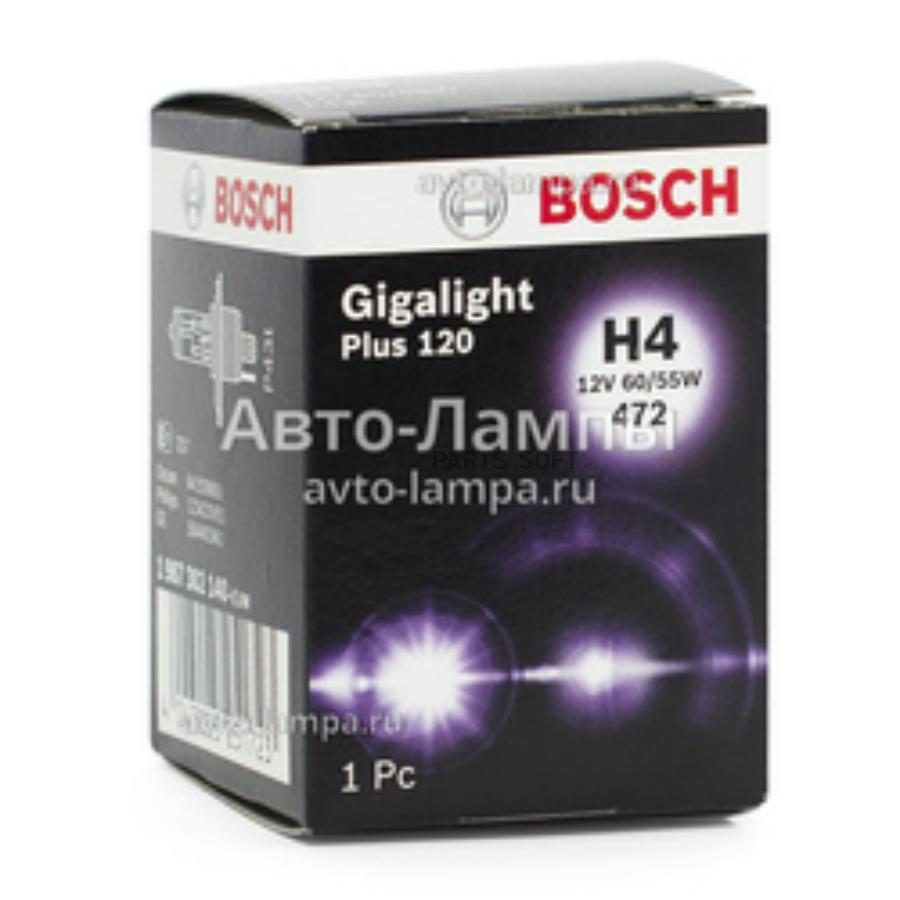 Лампа накаливания H4 60/55W 12V P43t комплект 2 шт