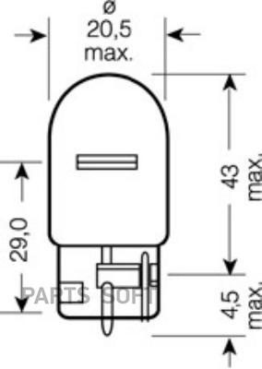Лампа W21W 12V 21W W3x16d ORIGINAL LINE качество оригинальной з/ч (ОЕМ) 1 шт.