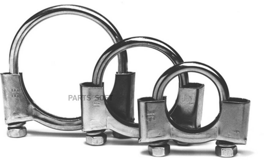 Хомут глушителя ф54 мм. М8 10шт./250-254