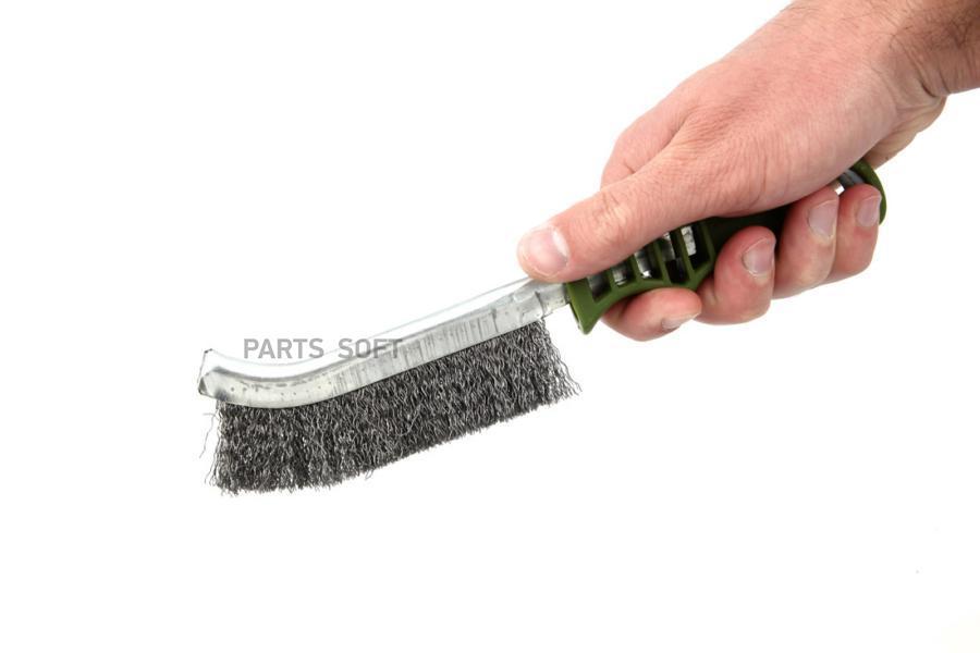 Щётка с пластиковой рукояткой, стальная щетина