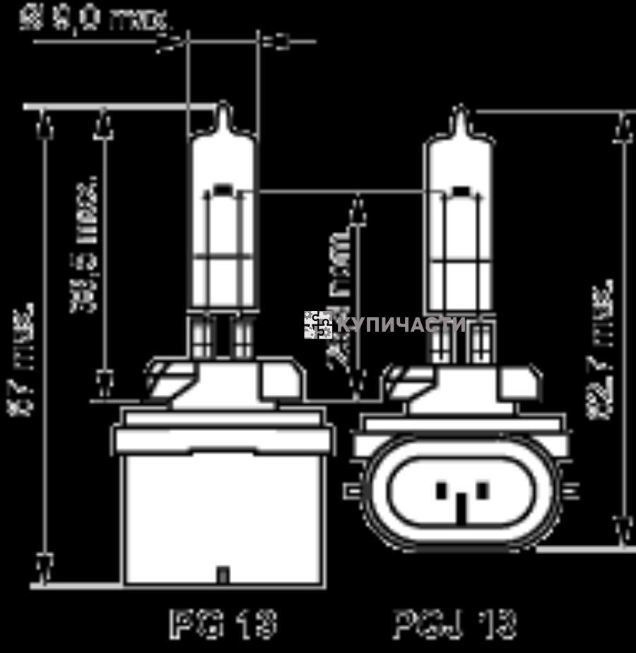 Лампа 889 12.8V 27W PGJ 13