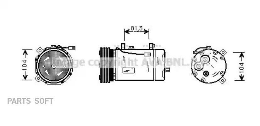 Ремкомплект компрессора AUDI A3 (8L1) 96-03,TT (8N3) 98-06,TT Roadster (8N9) 99-06;CADILLAC BLS Wagon 07 MSG RK0012