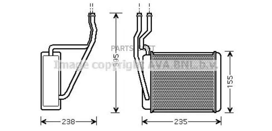 Теплообменник, отопление салона