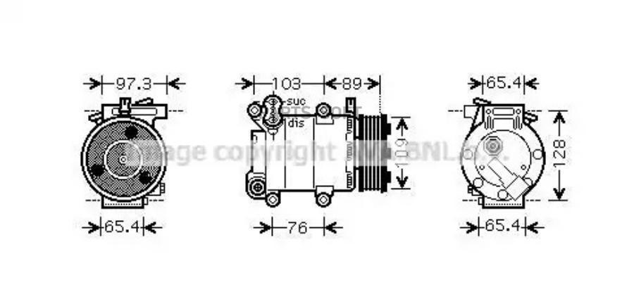 Компрессор кондиционера FORD C-MAX 07-10,FOCUS II (DA_) 04-12,FOCUS II кабрио 06-10,FOCUS II седан (DA_) MSG AC0139