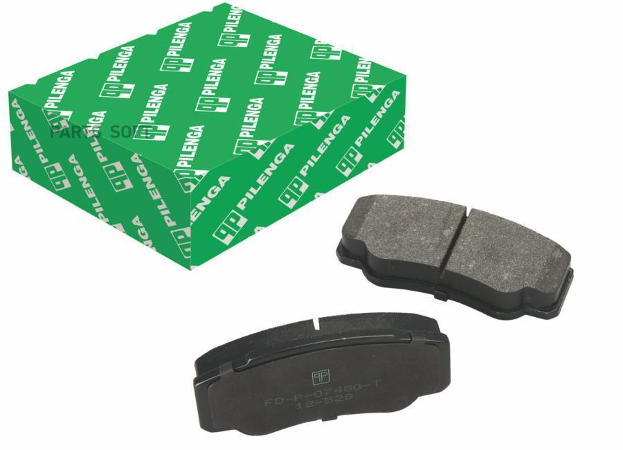 Колодки тормозные дисковые усиленные зад, прав, лев