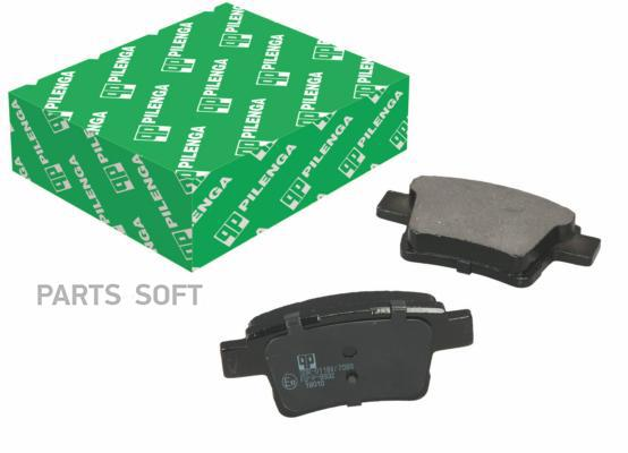 Колодки тормозные дисковые зад, прав, лев
