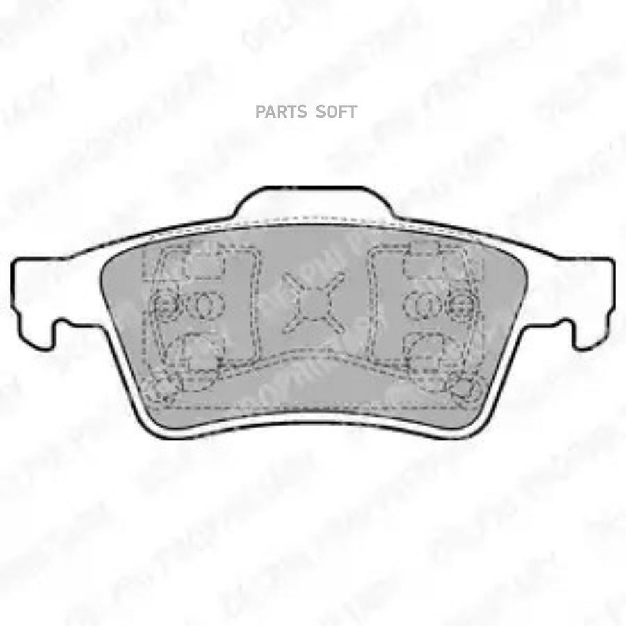 Колодки торм. перед. Ford Focus II/Mazda 3/Volvo S40-V50/108200/LP1701