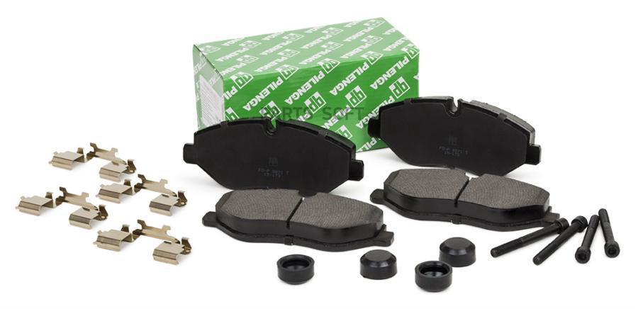 Колодки тормозные дисковые усиленные (с болтами и скобами) перед, прав, лев