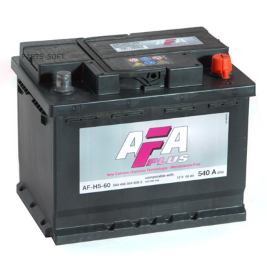 Аккумулятор AFA 60 А/ч 560408 AF ОБР EN 540