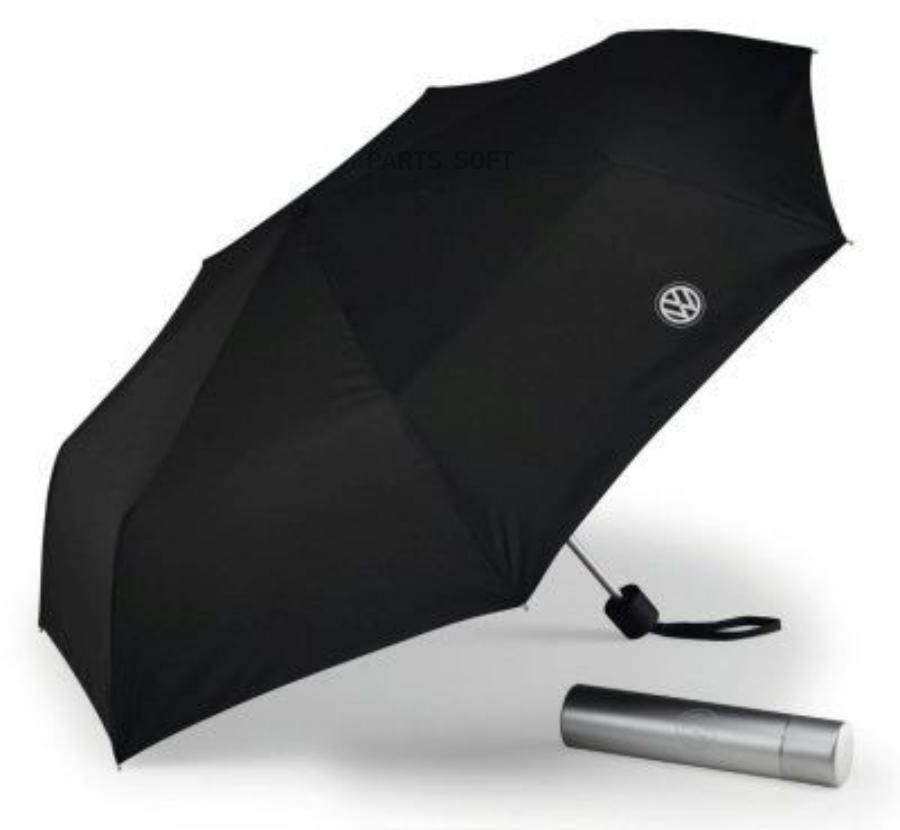 Складной зонт Volkswagen Folding Umbrella With Aluminium Case Black