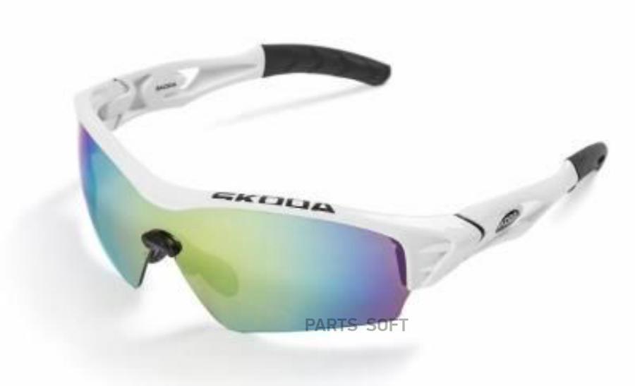 Спортивные солнцезащитные велоочки Skoda Bike Sunglasses White