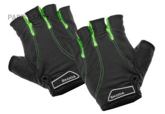 Велоперчатки Skoda Cycling Gloves Black/Green