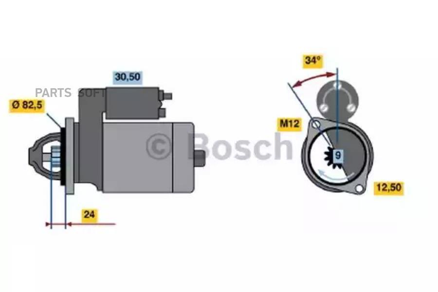 Стартер Мерседес Mercedes M110,M115,M123 ВОССТАНОВЛЕННЫЙ