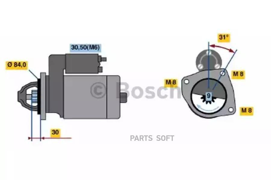 Стартер редукторный (2,5 kw), BM