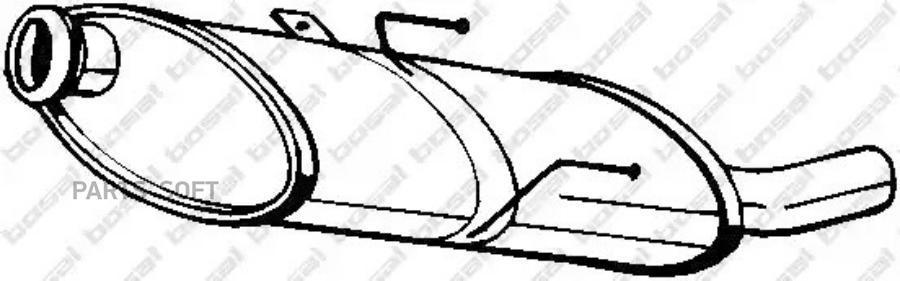 Глушитель задняя часть