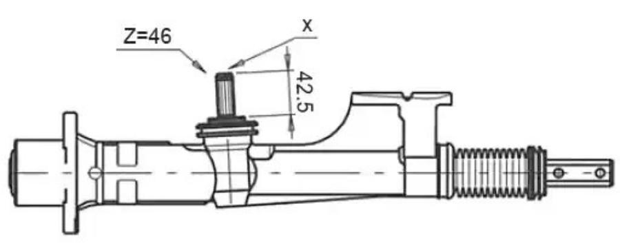 Рулевая рейка без ГУР AUDI 80 73-90, AUDI 80 90-94, AUDI 80 91-96, AUDI 90 73-91; VW PASSAT 73-80 MSG Rebuilding AU101R