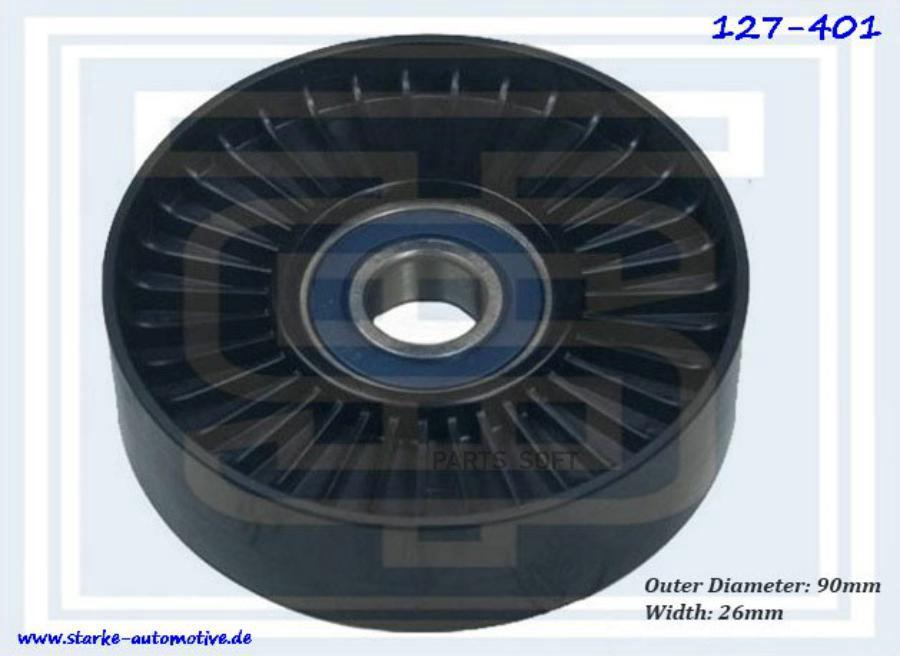Ролик приводного ремня CHRYSLER VOYAGER II-III/DODGE CARAVAN II