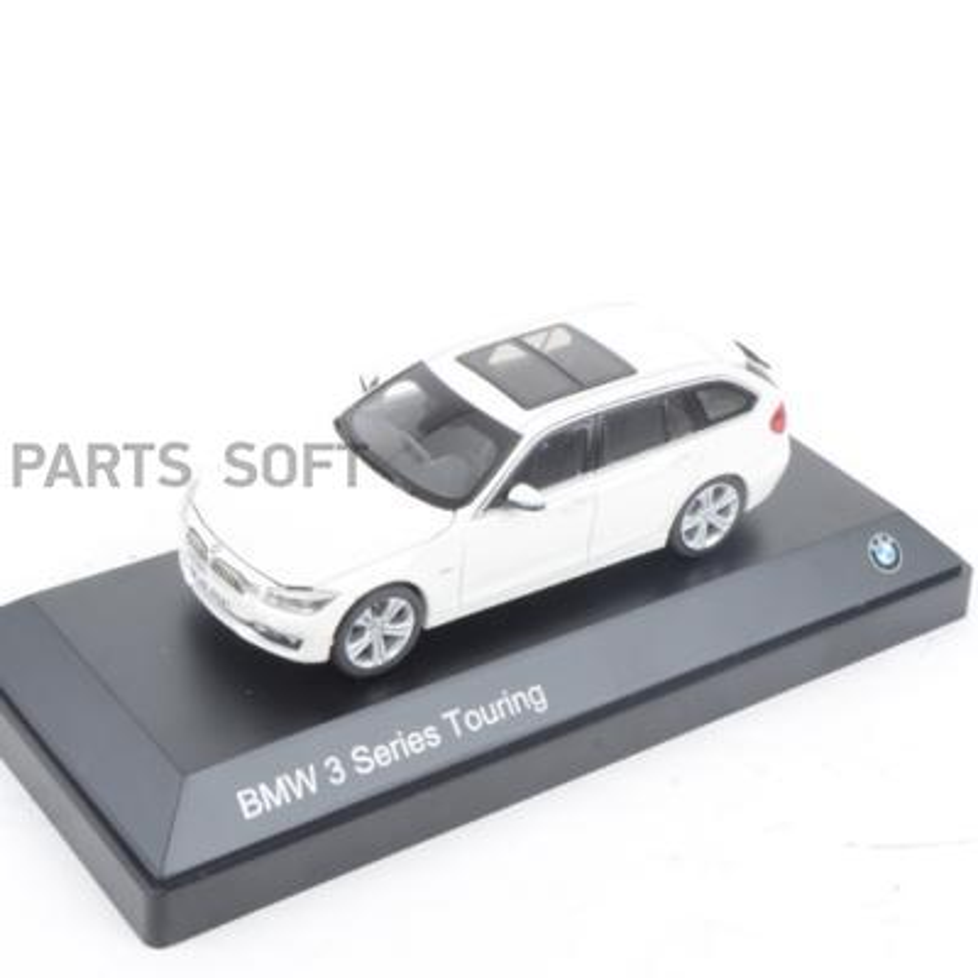 Модель автомобиля BMW 3 Series Touring (F31) Miniature White Scale 1:43