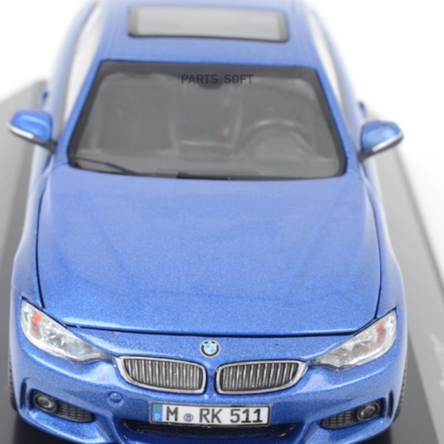 Модель автомобиля BMW4 Series Coupe (F32) Estoril Blue Scale 1:43