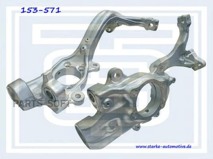 Поворотный кулак Audi A6 (4F)  05.2004--  R