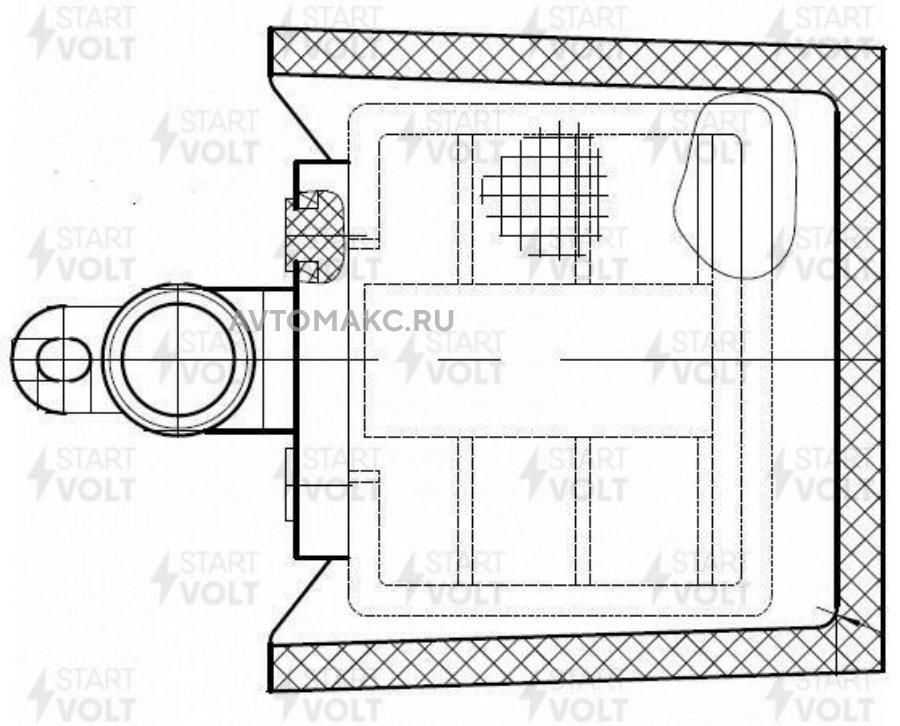 Фильтр эл. бензонасоса для а/м Daewoo Matiz (98-)/Hyundai Lantra (90-) (D=11мм) (SFF 0505) (SFF 0505)