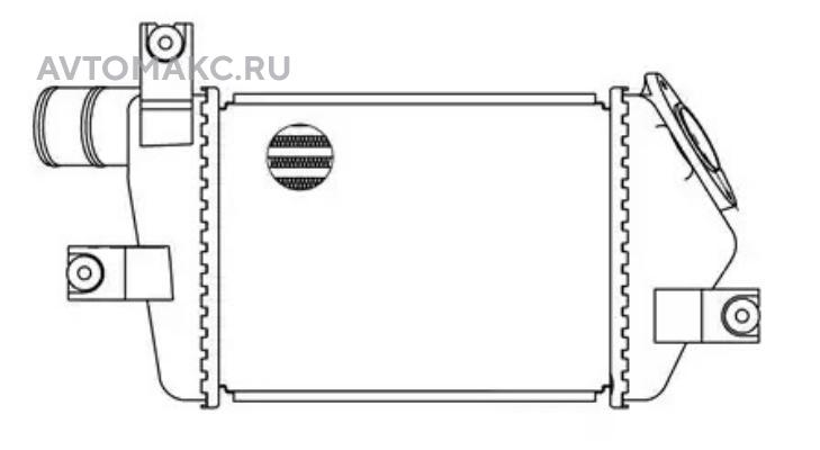 ОНВ (радиатор интеркулера) для а/м Mitsubishi L200 (06-)/Pajero Sport (08-) 2.5TD