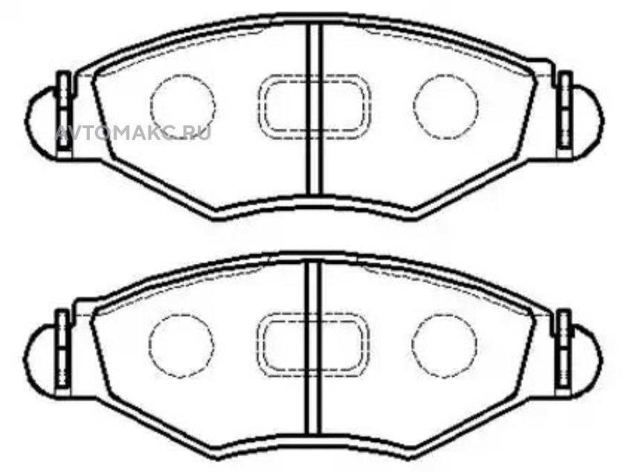 Колодки тормозные дисковые передние к-т