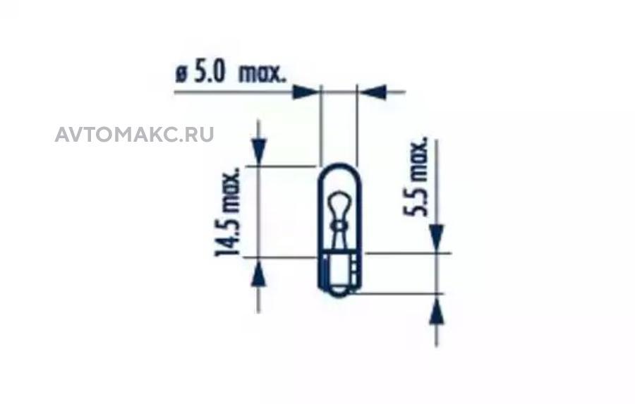 Лампа W1,2W 24V W2X4,6d