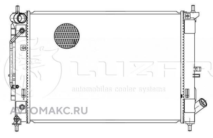 Радиатор охл. для а/м Hyundai Elantra (MD/UD) (15-) 1.6i/2.0i AT