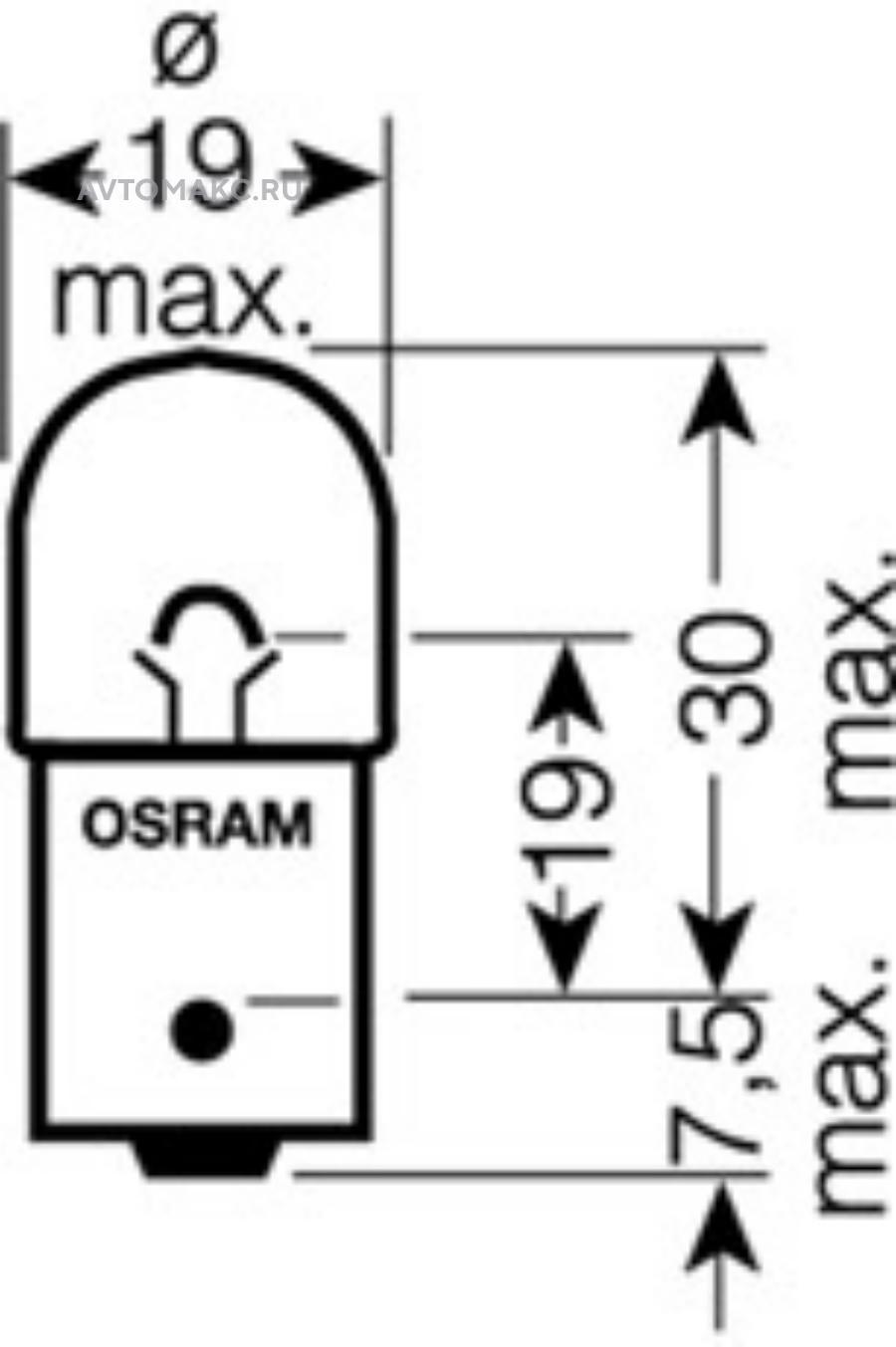 Комплект ламп R5W 12V 5W BA15s ORIGINAL LINE качество оригинальной з/ч (ОЕМ) 2шт.(1к-т)