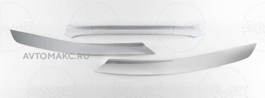 Дефлектор капота Chrome ,к-т 3шт.; HD ix35 2010-05.2013 (AMDDK287)