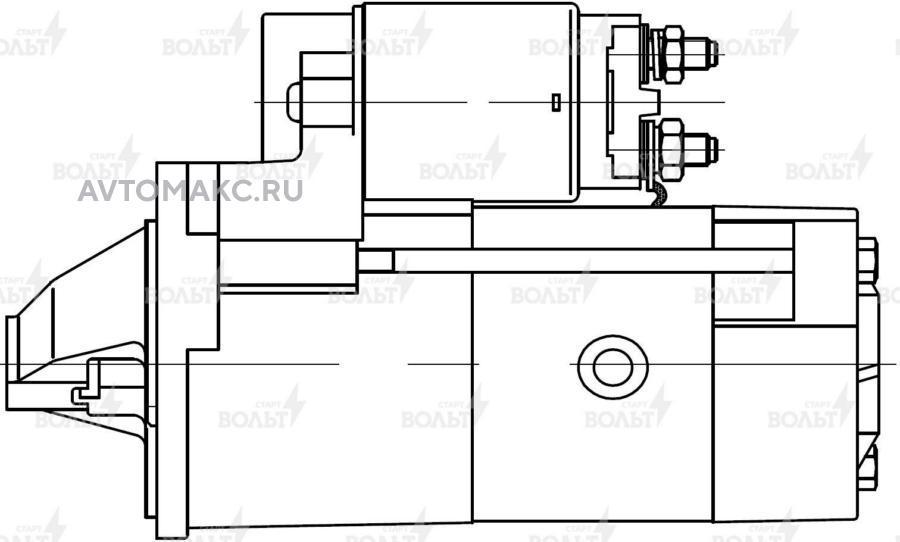 Стартер для а/м Mitsubishi L200 (05-)/Pajero Sport (08-) 2.5D