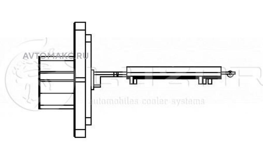 Резистор электровентилятора отопителя Corolla (E12) (01-)