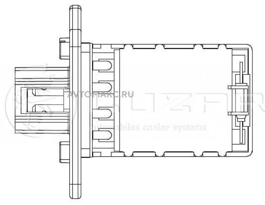 Резистор электровентилятора отопителя для автомобилей Kyron/Actyon (05-) (manual A/C)