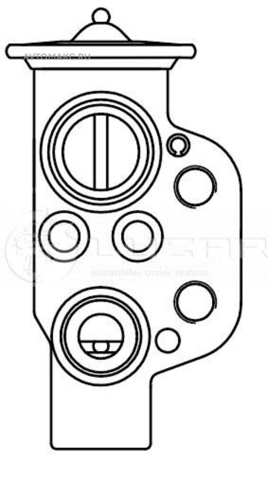 Клапан расширительный кондиционера (ТРВ) для автомобилей Оctavia (A5) (04-)/Golf VI (08-)
