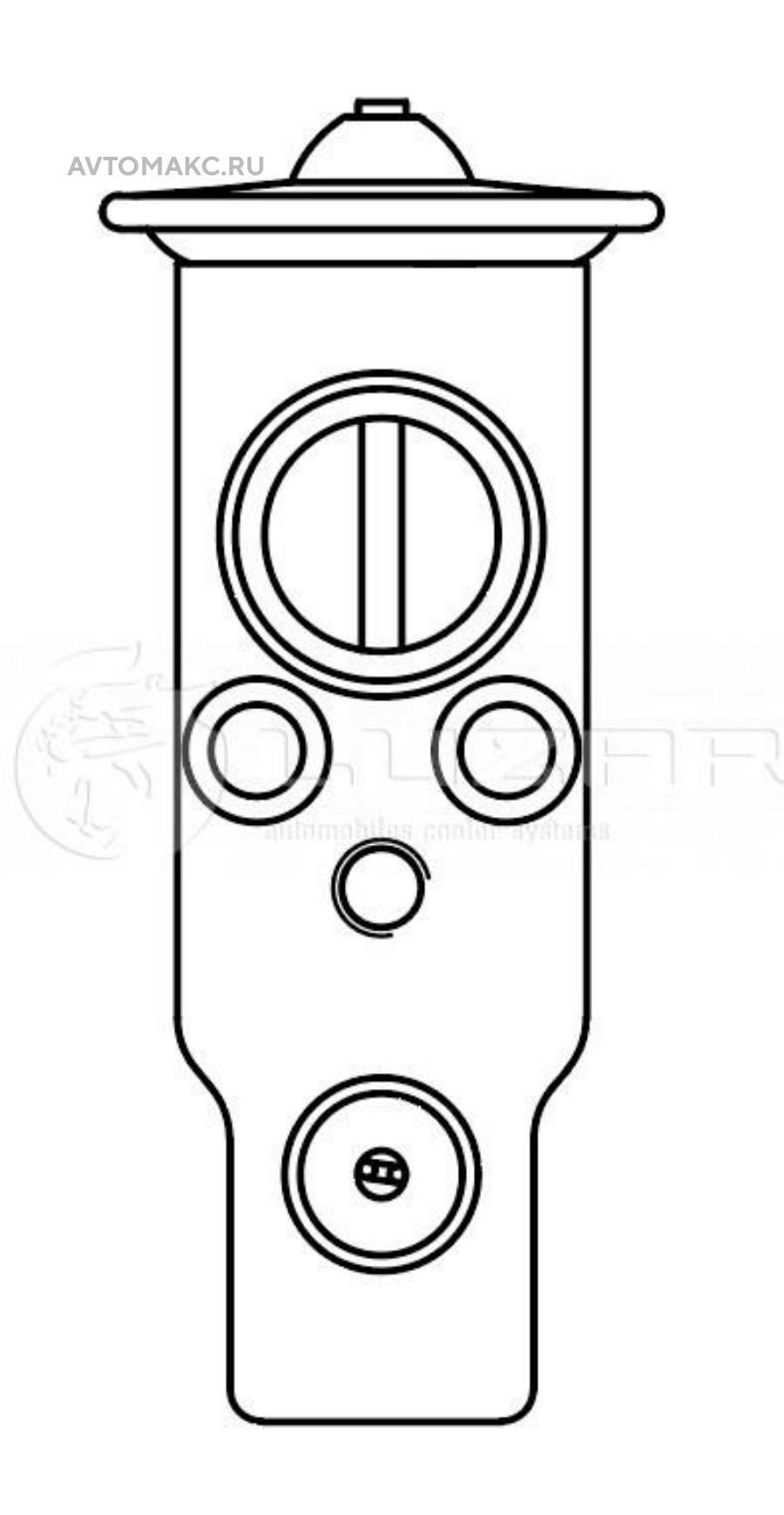 Клапан расширительный кондиционера (ТРВ) Tiida (04-)