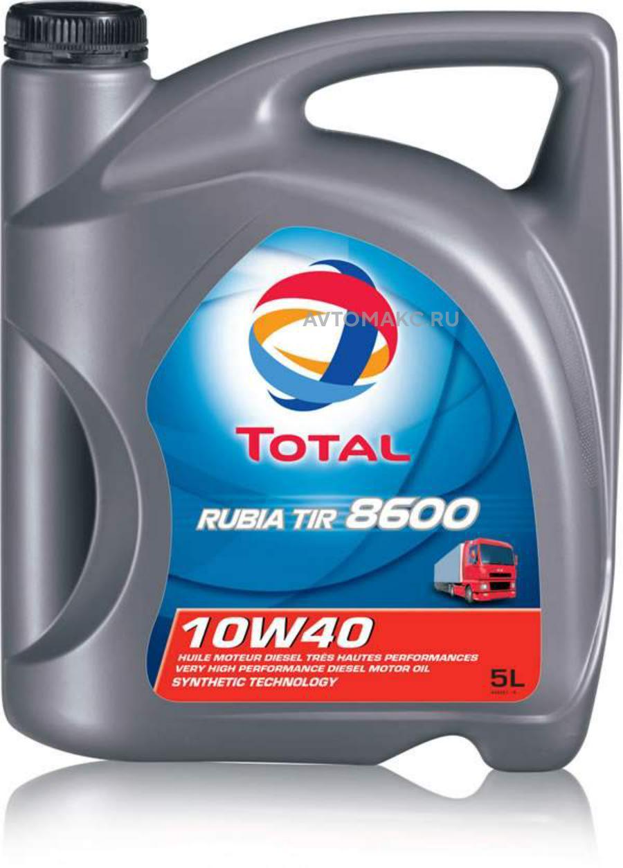 Масло моторное полусинтетическое RUBIA TIR 8600 10W-40, 5л