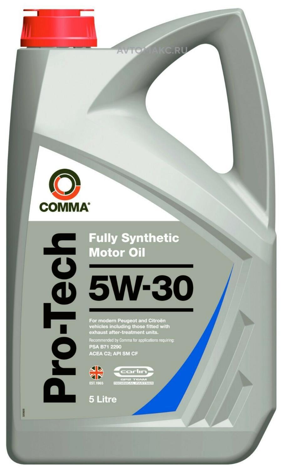Масло моторное синтетическое PRO-TECH 5W-30, 5л