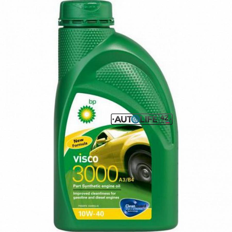Масло моторное полусинтетическое Visco 3000 A3/B4 10W-40, 1л