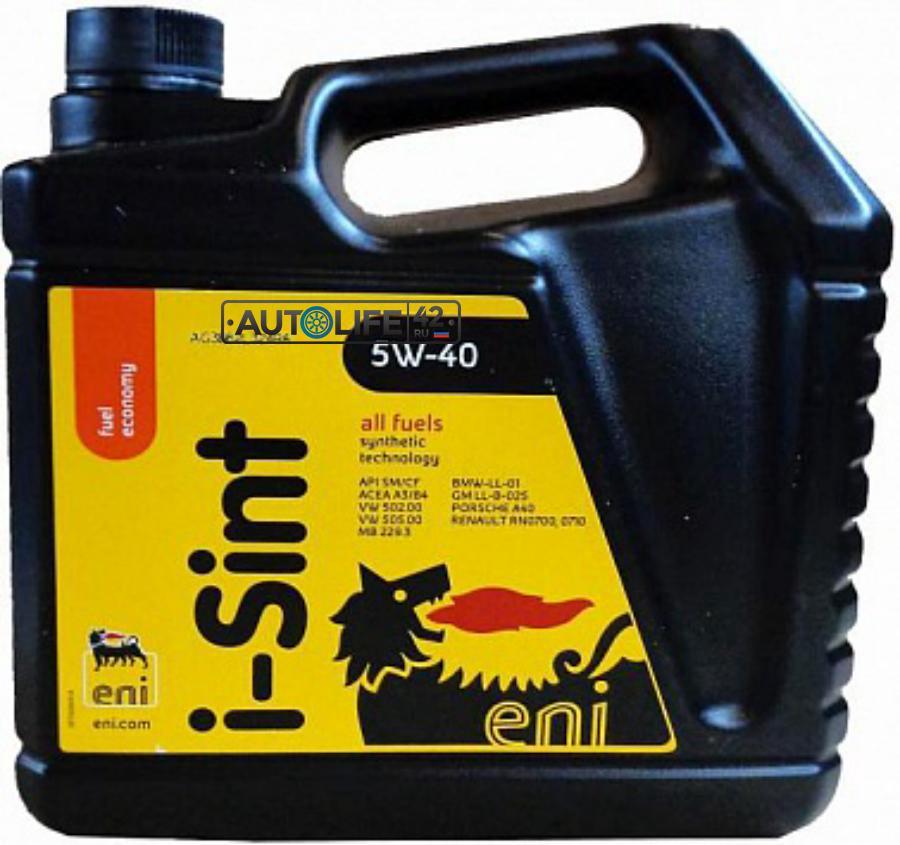 Масло моторное синтетическое I-Sint 5W-40, 4л