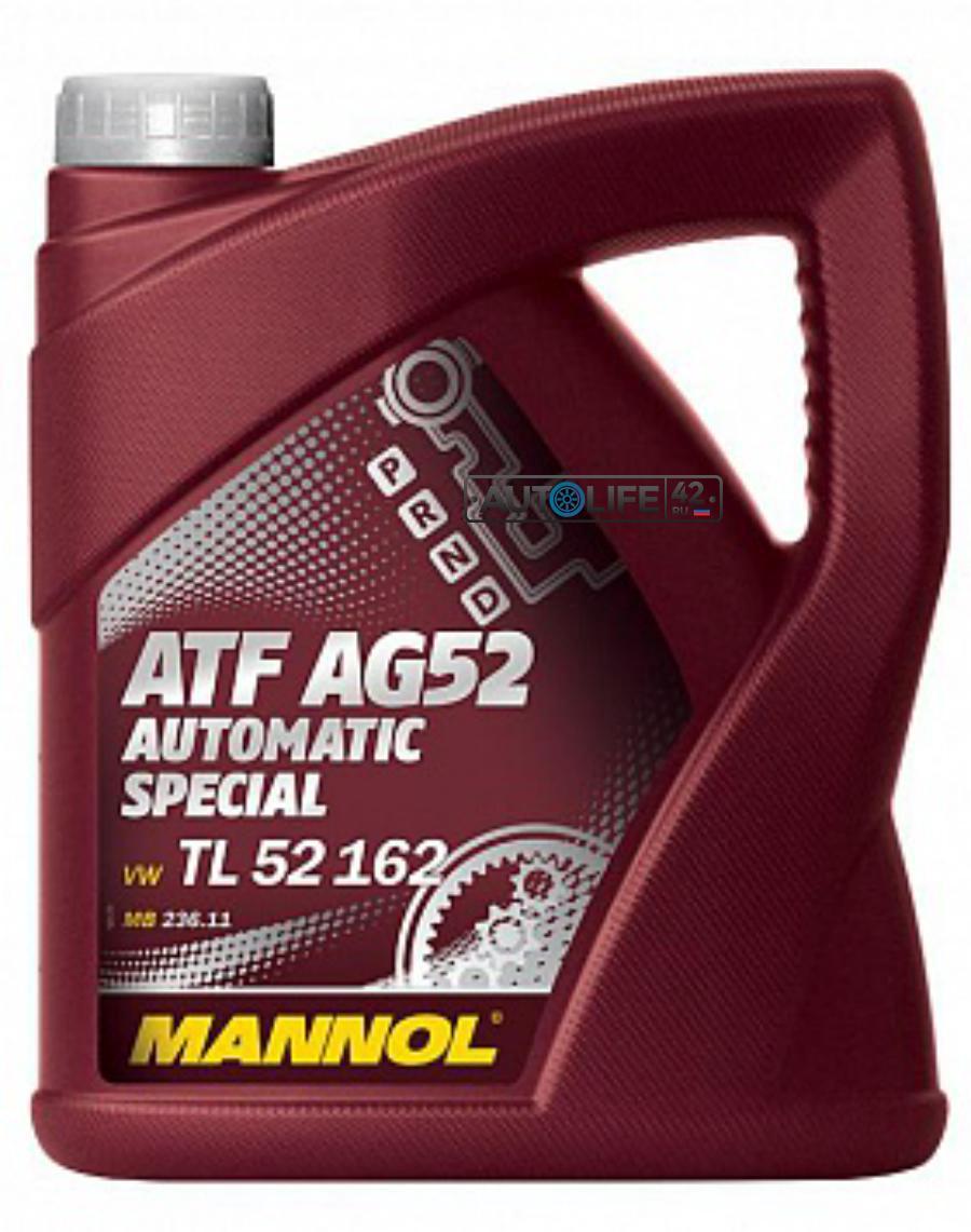 Масло трансмиссионное полусинтетическое Automatc Special ATF AG52, 4л