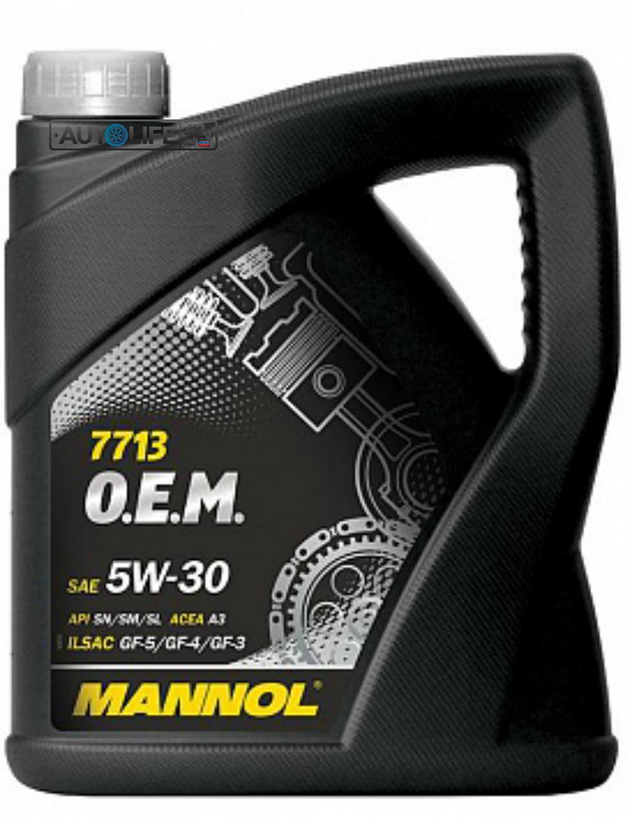 Масло моторное синтетическое 7713 O,E,M, for Hyundai Kia 5W-30, 4л