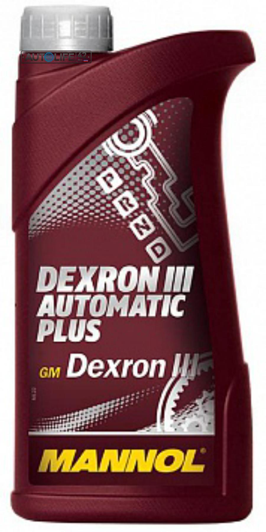 Масло трансмисионное ATF DEXRON III  автомат (1л.) 1335 MANNOL 1335