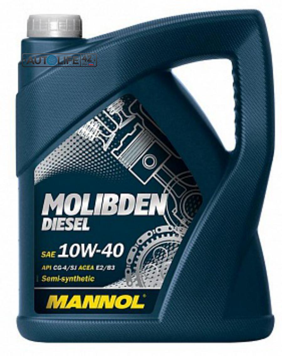 Масло моторное полусинтетическое Molibden Diesel 10W-40, 4л