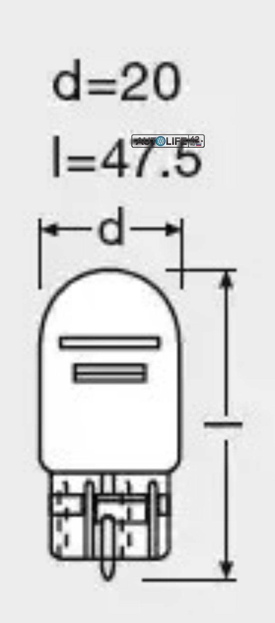 ЛАМПА 12V W21/5W W2.1X9.5D БЕСЦОКОЛЬНАЯ OSRAM OSRAM 7515