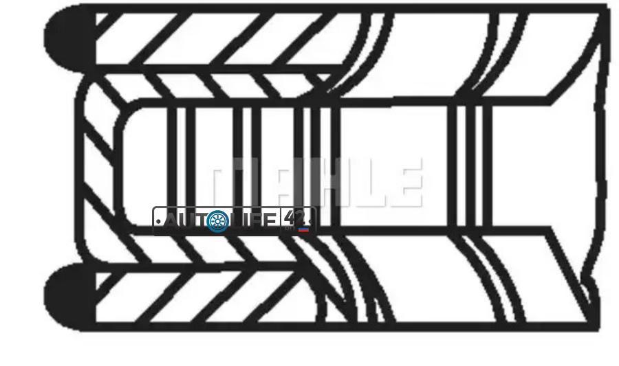 Кольца поршневые (один цилиндр) KNECHT-MAHLE 01221N0