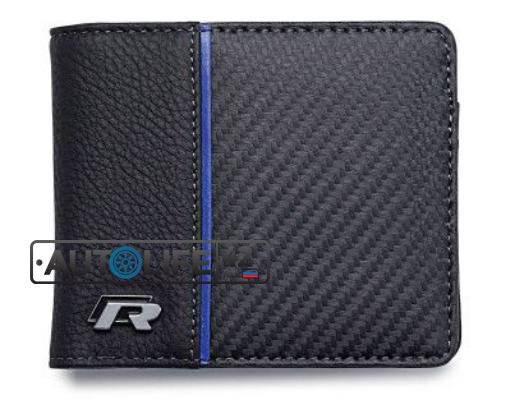 Кожаный кошелек Volkswagen R Collection Wallet Black