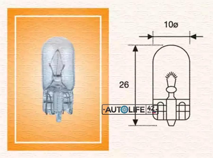 Лампа накаливания, фонарь указателя поворота; Лампа накаливания, освещение щитка приборов; Лампа накаливания